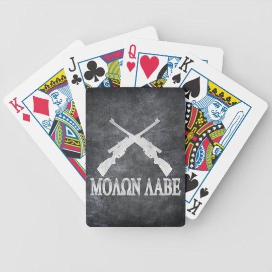 Molon Labe Crossed Rifles 2nd Amendment Poker Deck
