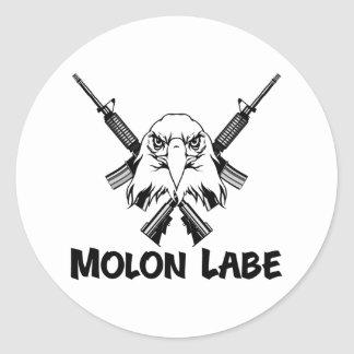 Molon Labe Eagle Classic Round Sticker