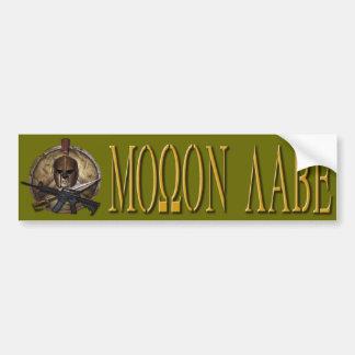 Molon Labe Greek Bumper Sticker Gold