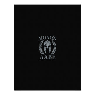 Molon Labe Grunge Spartan Armor Personalized Letterhead