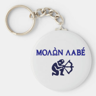 Molon Labe in Greek 2nd Amendment Basic Round Button Keychain