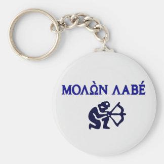 Molon Labe in Greek 2nd Amendment Keychain