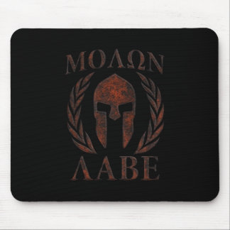 Molon Labe Iron Warrior Laurels Mouse Pad
