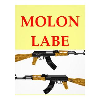 molon labe letterhead design