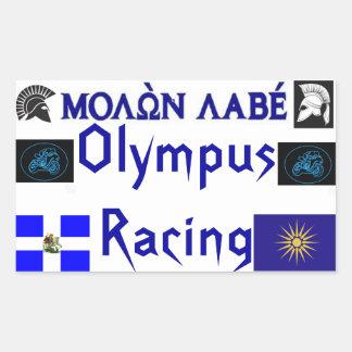 Molon Labe Olympus Racing Sticket Sticker