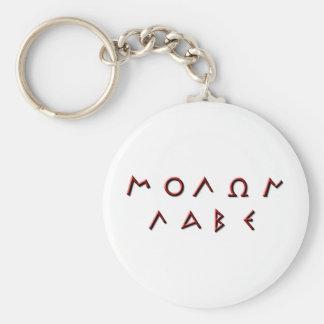 Molon Labe Primitive Keychain