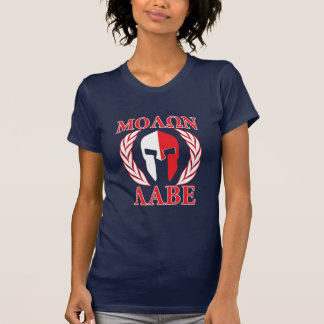 Molon Labe Spartan Armor Laurels Tri Color T-Shirt