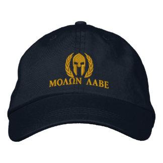 Molon Labe Spartan Helmet Laurels Embroidery Embroidered Hat