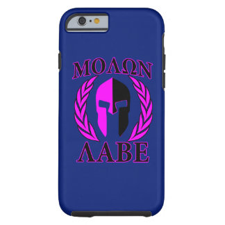 Molon Labe Spartan Helmet Laurels Tri-Color Tough iPhone 6 Case