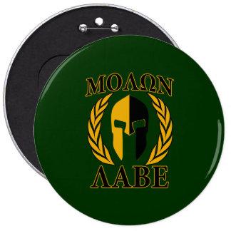 Molon Labe Spartan Laurels Forest Green Decor 6 Inch Round Button