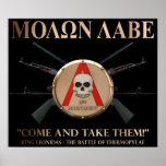 Molon Labe - Spartan Shield Print