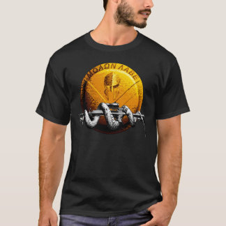 Molon Labe Spartan Shield With Coiled Rattlesnake T-Shirt