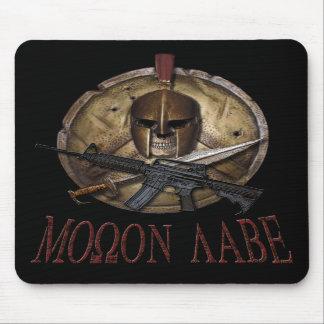 Molon Labe Spartan Skull w/ M-4 Mousepad