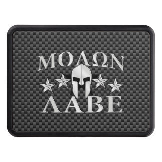Molon Labe Spartan Warrior 5 stars Carbon Tow Hitch Covers