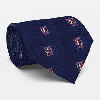 Molon Labe Spartan Warrior Carbon Fiber Print Tie