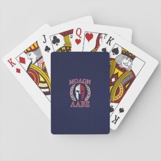 Molon Labe Spartan Warrior Carbon Fiber Style Playing Cards