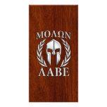Molon Labe Spartan Warrior Laurels Chro Wood Print Photo Card Template