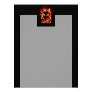 Molon Labe Spartan Warrior Laurels on Fire Customized Letterhead