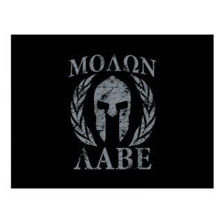 Molon Labe Spartan Warrior Laurels Postcard