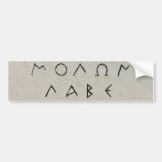 Molon Labe Sticker Bumper Sticker