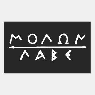 Molon Labe Sticker Set