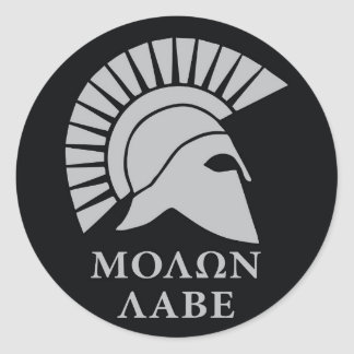 Molon Labe vers01 round decal sticker