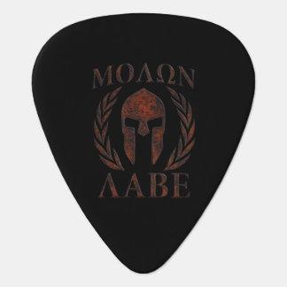 Molon Labe Warrior Laurels Iron Mask Guitar Pick