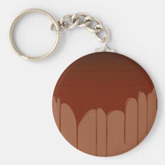 Molten Chocolate Background Basic Round Button Keychain