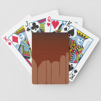 Molten Chocolate Background Bicycle Playing Cards