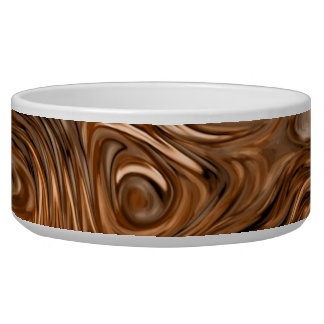 "Molten ""Copper"" print dog bowl"