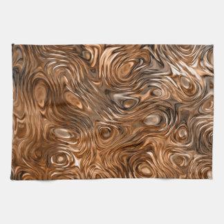 "Molten ""Copper"" print kitchen towel"