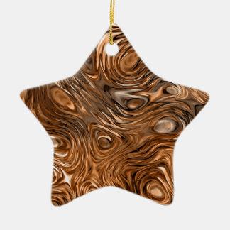 """Molten """"Copper"""" print ornament star"""
