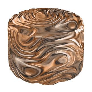 """Molten """"Copper"""" print pouf"""