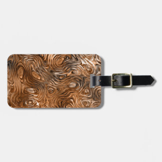 "Molten ""Copper"" print Text luggage tag"