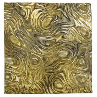 "Molten ""Gold"" print napkin set"