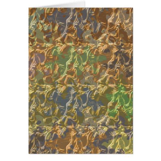 Molten Gold Strands in Rare Earth Colour Card