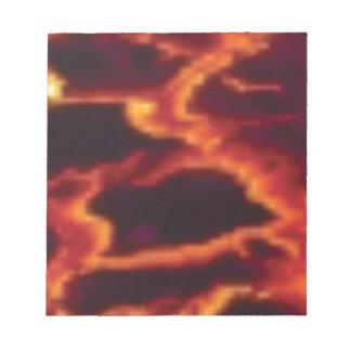 molten lava flow notepad