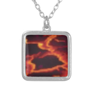molten lava flow silver plated necklace