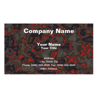 Molten Magma Background Business Card Template