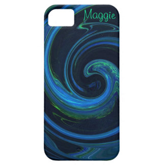 Molten Malachite Azurite Abstract Wave iPhone 5 Covers