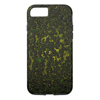 Molten metal abstract dark iPhone 7 case