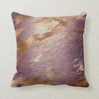 Molten Pin Faux Rose Gold Powder Vip Luxury Decor Throw Pillow