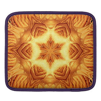 Molten Vortex Mandala iPad Sleeves