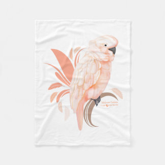 Moluccan Cockatoo Fleece Blanket