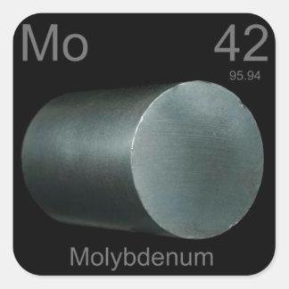 Molybdenum Square Sticker