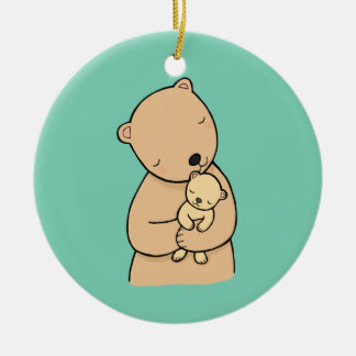 Mom and Baby Bear Custom Personalized Ornament