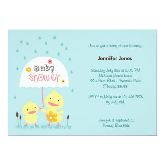 """Mom and Baby Chick 5"""" X 7"""" Invitation Card"""