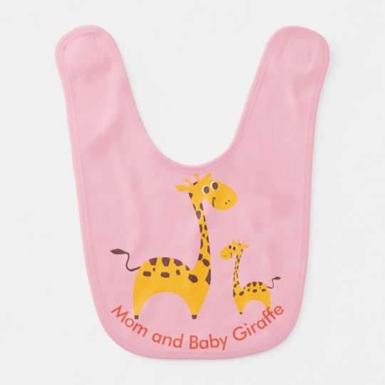 Mom and Baby Giraffe Baby Bib