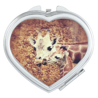 Mom and Baby Giraffe Compact Mirror