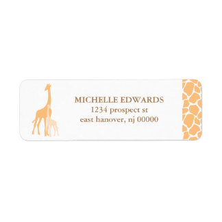 Mom and Baby Giraffe Return Address Labels